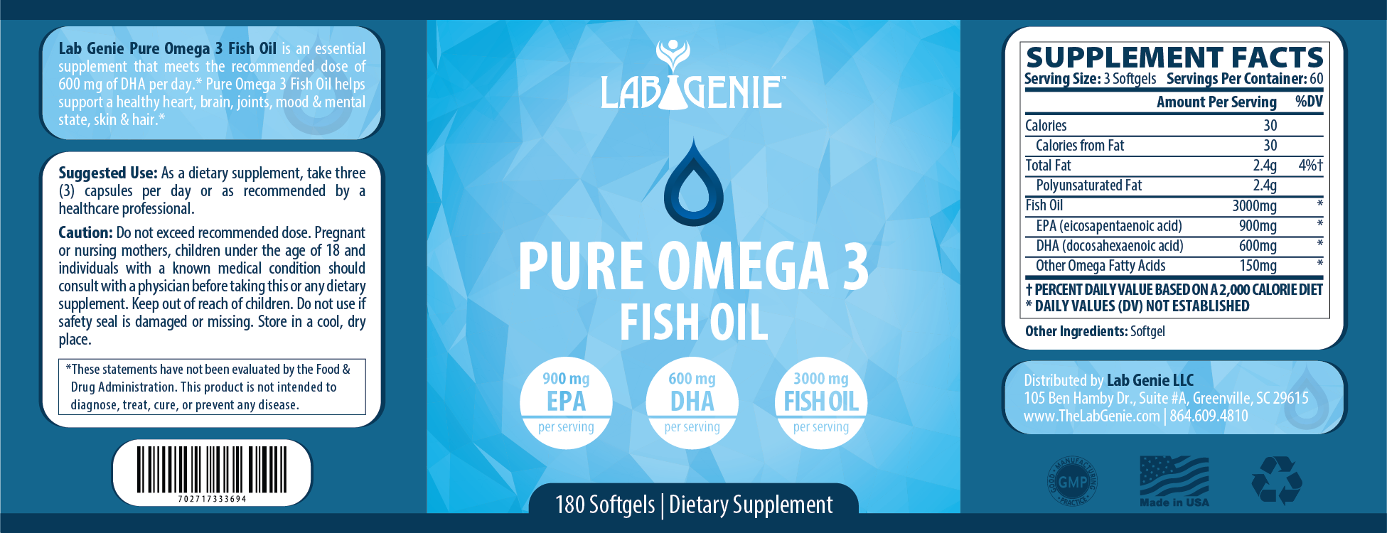 Lab genie design request the lab genie for Fish oil for toddlers speech delay