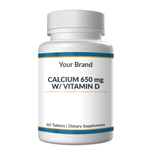 Calcium 650mg & Vitamin D are both essential to building and keeping strong, dense bones. Calcium is a mineral that also helps your nerves send messages and muscles contract.